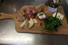 antipasto rustico - selections of cured meats, cheeses, grilled vegetables and caprese salad